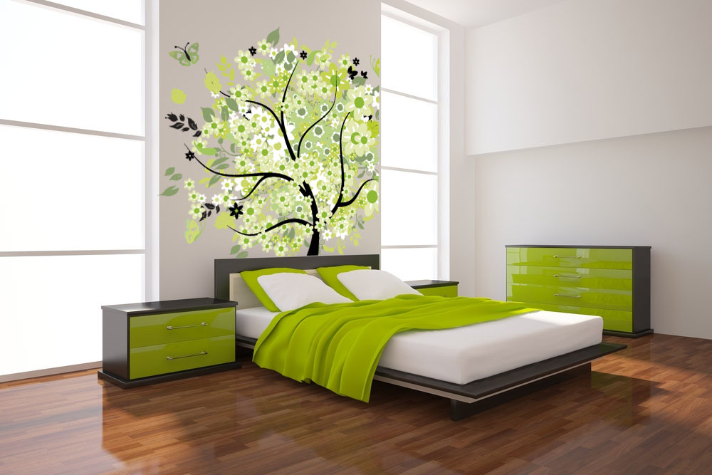 Getting the most beautiful walls for Green bedroom wallpaper