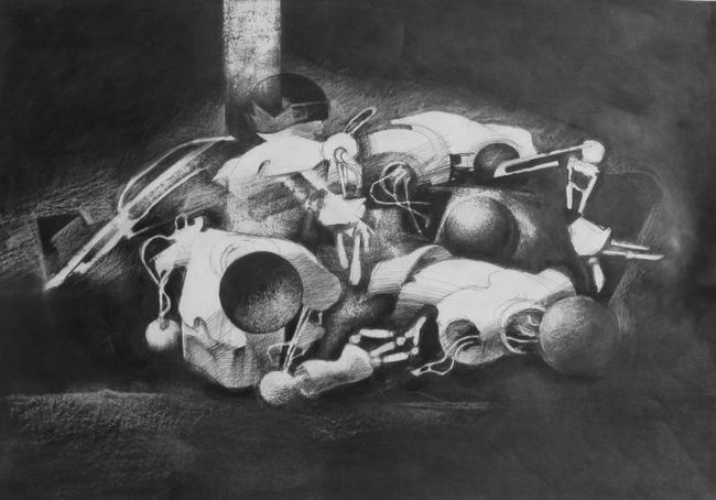 Graveyard of robots from Futurological Congress (Stanislaw Lem)