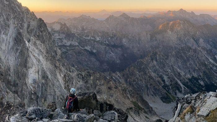 Sherpa peak notch looking down