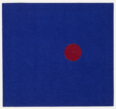 Ellsworth Kelly, Red and Blue, 1951, MoMA