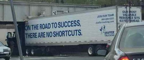 No shortcuts.