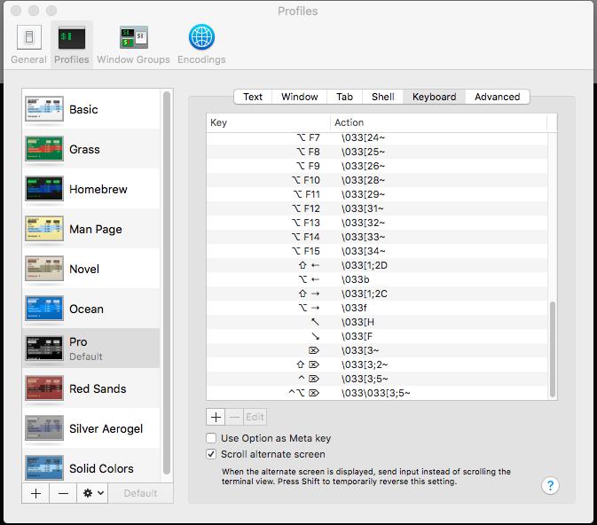 Mac OS X Keyboard Bindings for Home and End Keys