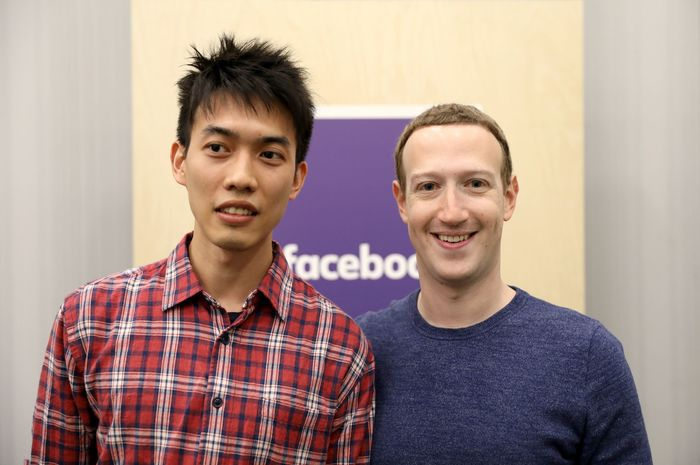 Prathan Thananart with Mark Zuckerberg