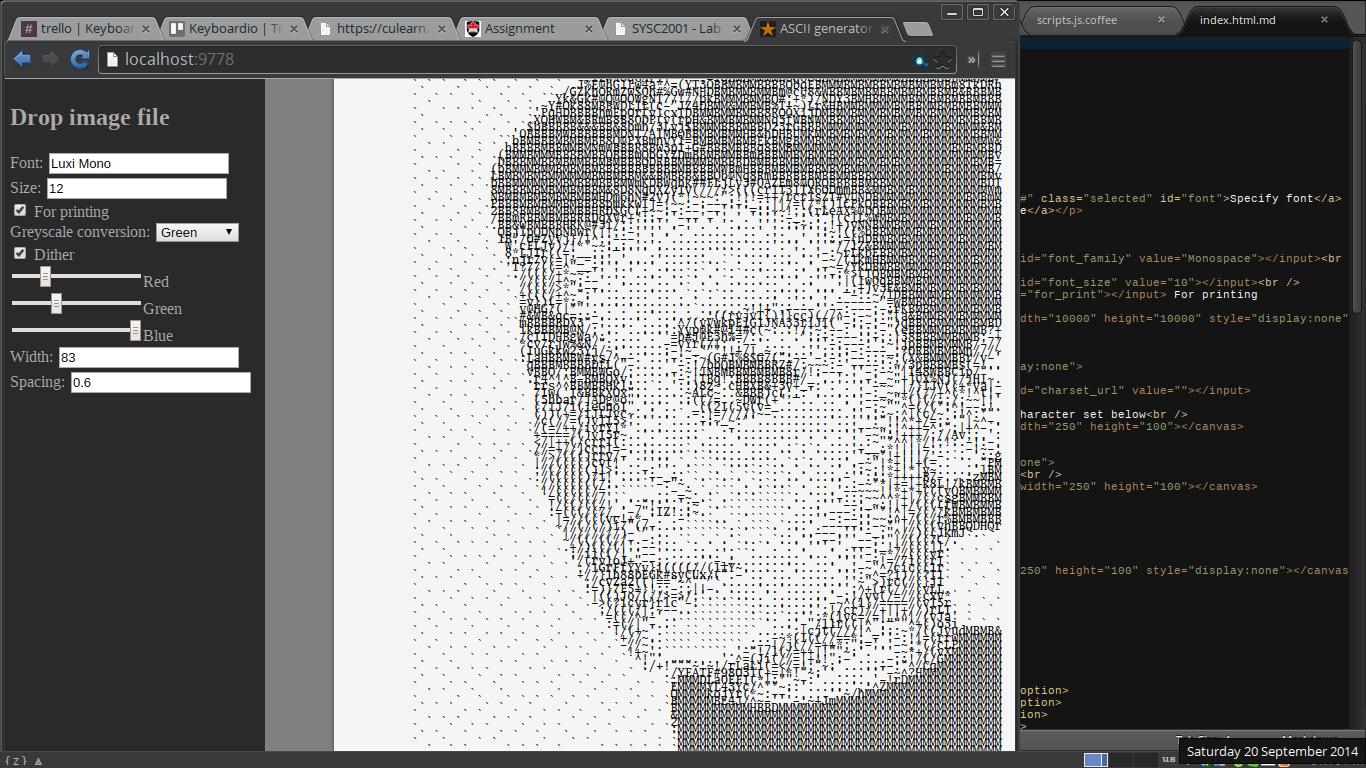 Line Art Converter Software : Kword: an image > ascii converter