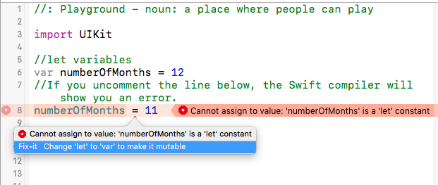 An image showing a let variable having its value changed (mutated)