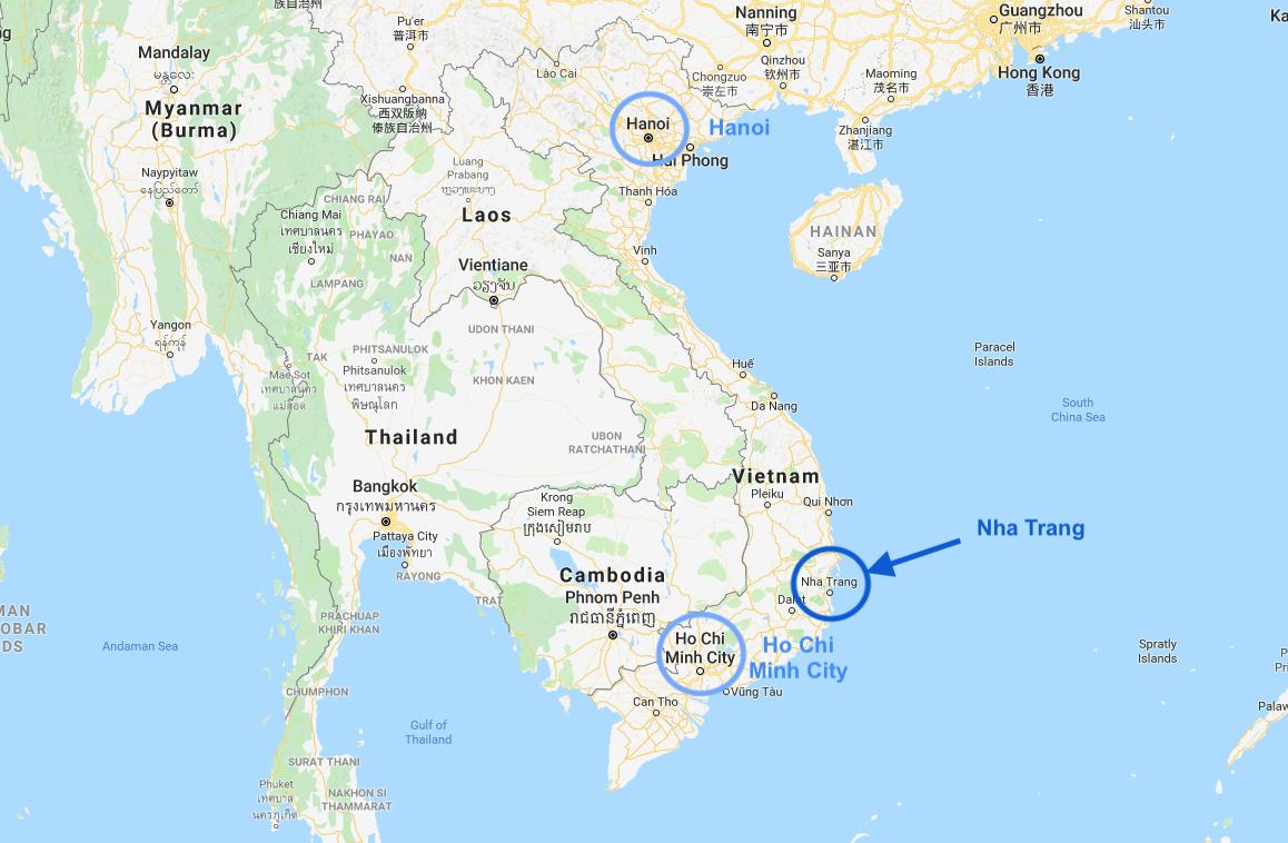 Nha Trang Vietnam Map.Working Remote From Nha Trang Vietnam