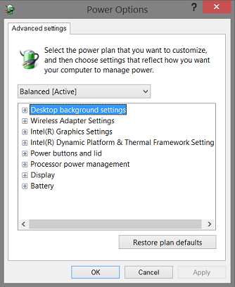 Hidden power settings on your Windows 8 1 tablet or PC