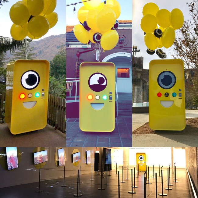 Photo collage of Snapbots from Twitter