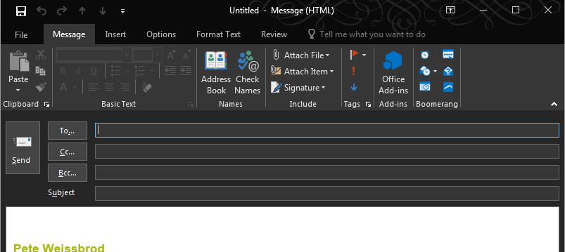 interesting hack office 2016 in night mode