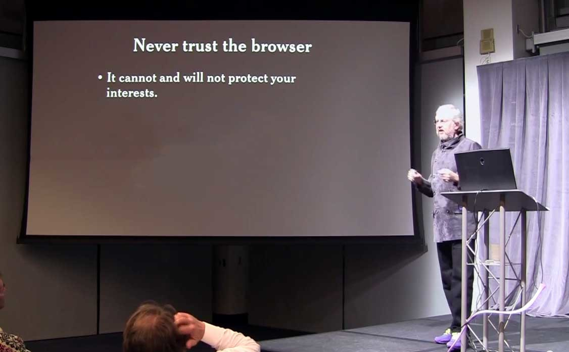 What's wrong with in-browser cryptography?