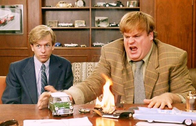 tommy-boy-spade-farley-desk-fire.jpg