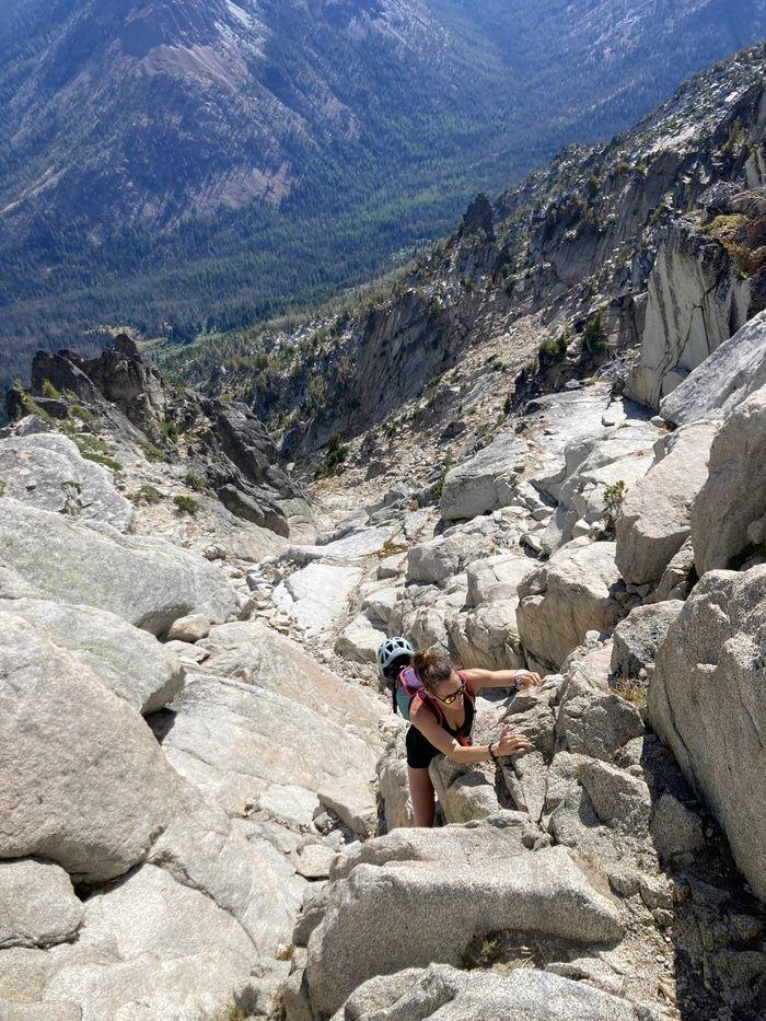 Argonaut peak gully