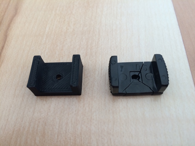 Printed replacement along with broken piece