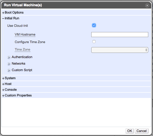 Using cloud-init in oVirt