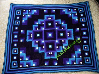 !!original mandala geometric blanket signed.jpg
