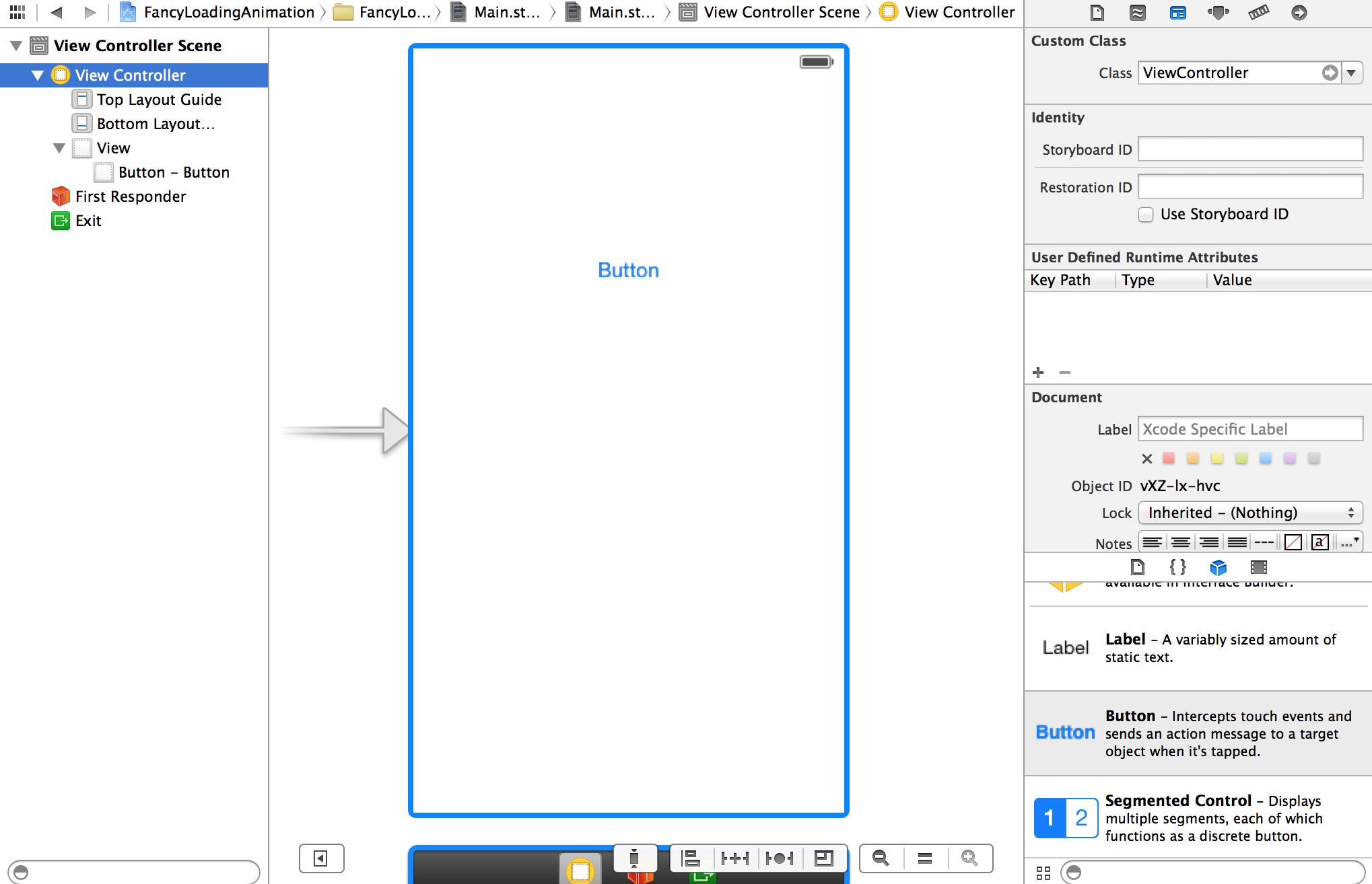 Custom loading animation for iOS