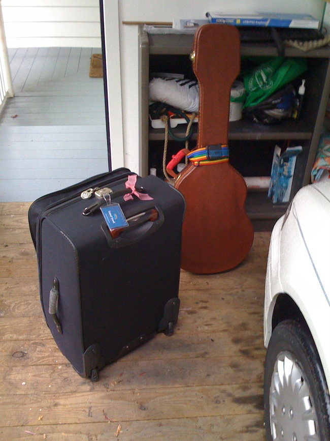 This is everything I took when I left home. That suitcase fell apart in the last mile.