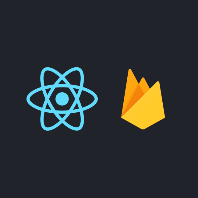 Firebase and React Logos