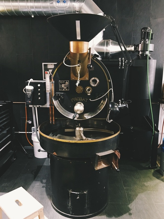 The machine that roasts all our favourite stuff.