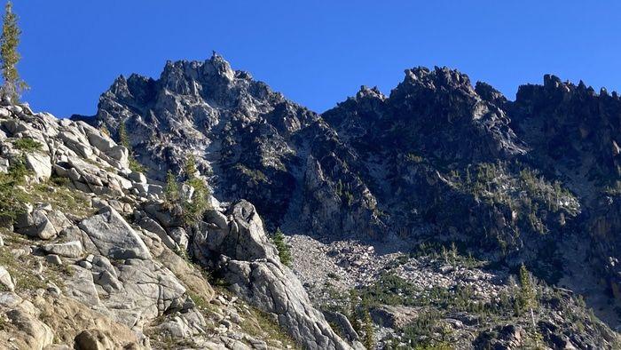 Sherpa peak from valley