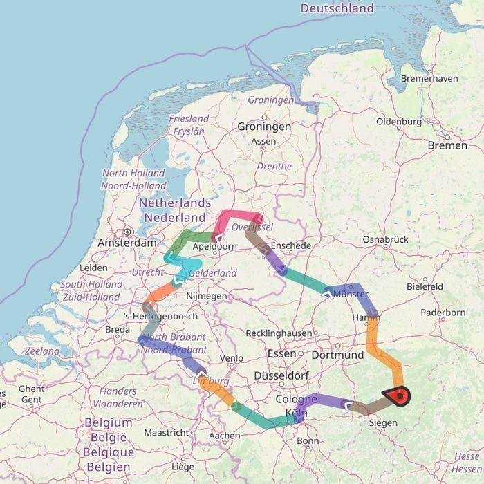 Fietsreis door Noordrijn-Westfalen en Nederland - kaart.jpg
