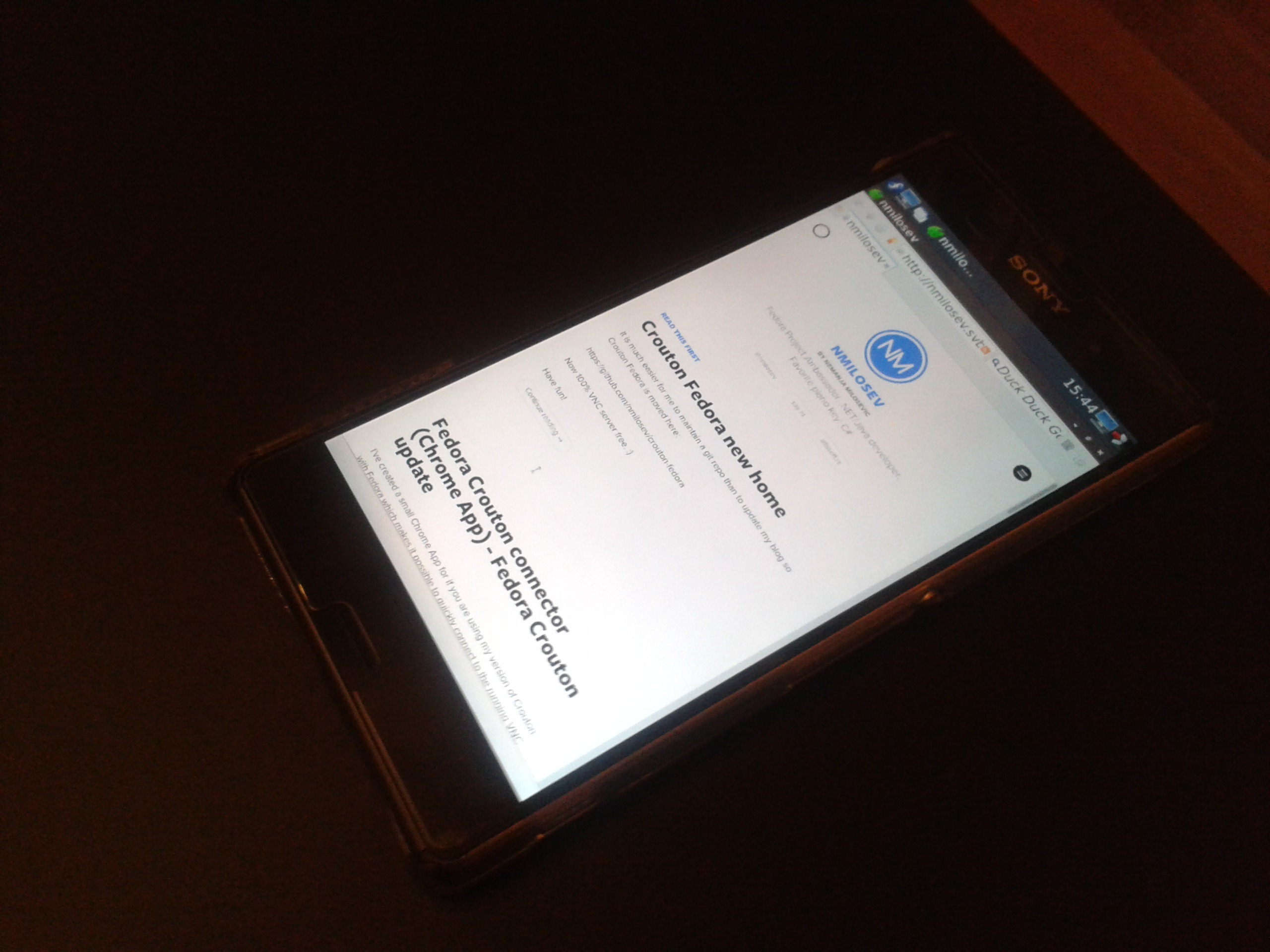 Fedora on non-rooted Android phones - 2016 update
